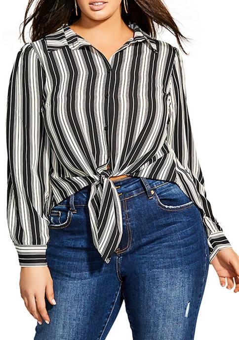 Plus Size Stripe Out Top