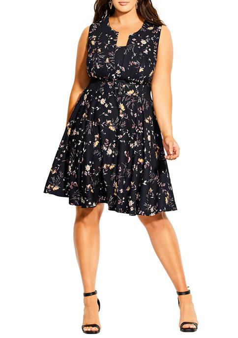 City Chic Plus Size Mini Vine Dress