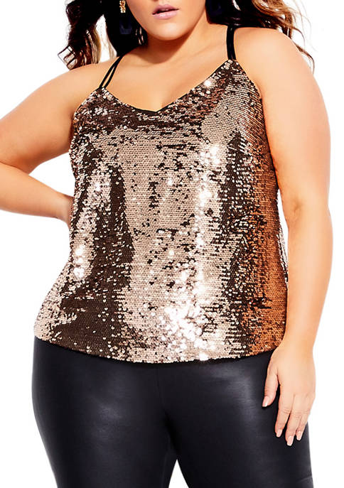 City Chic Plus Size Glimmer Top