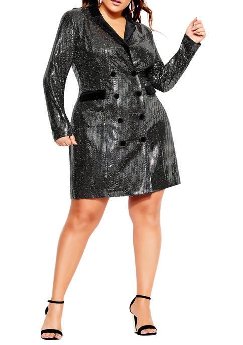 Plus Size Star Tuxedo Dress