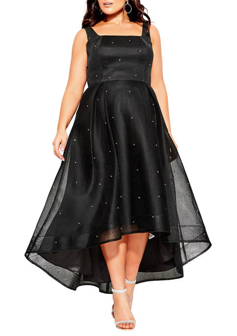 City Chic Plus Size Diamond Jewel Maxi Dress