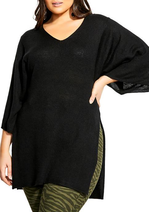 City Chic Plus Size V-Neck Knit Tunic