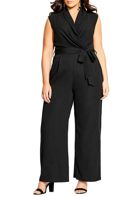 City Chic Plus Size Allure V Jumpsuit