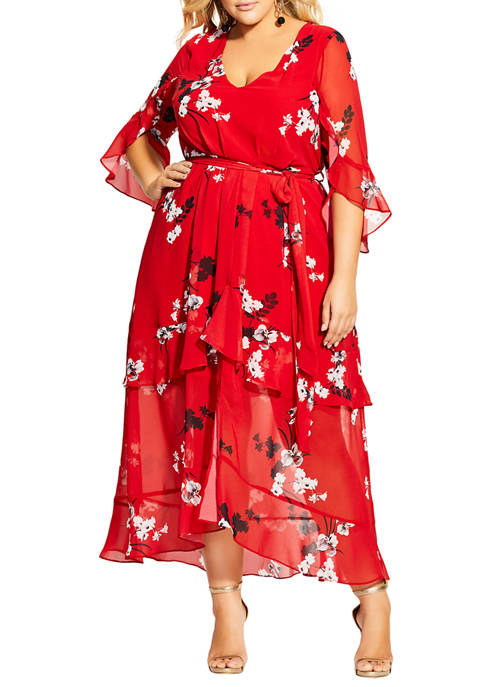 Plus Size Vixen Floral Maxi Dress