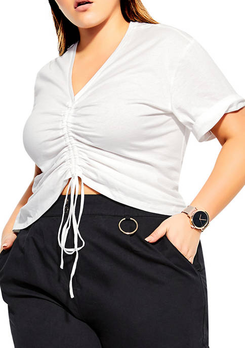 City Chic Plus Size Drawn Up Top