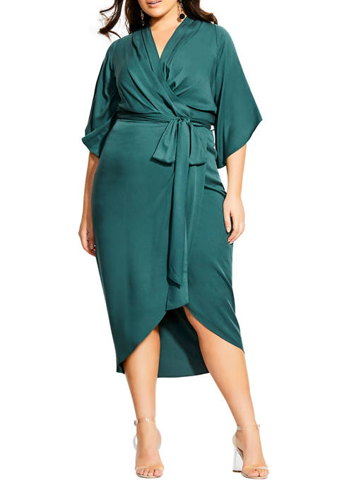 City Chic Plus Size Kimono Sleeve Dress