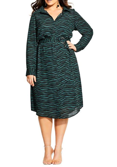 Plus Size Safari Maxi Dress
