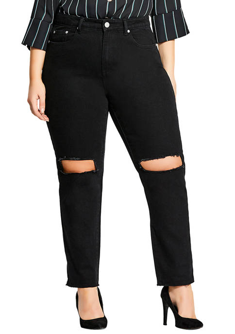 City Chic Plus Size Razed Skinny Jean