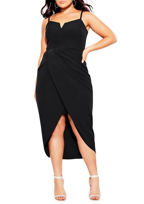 Plus Size Sassy V Neck Dress