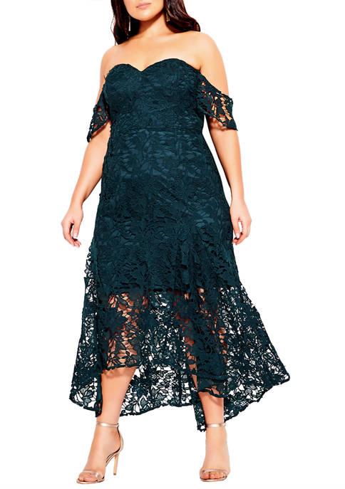 City Chic Plus Size Entrancing Dress