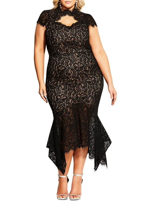 Plus Size Lace Devotion Dress