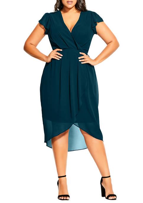 Plus Size Wrap Swing Dress