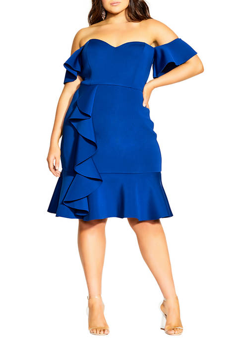 City Chic Plus Size Flutter Away Dress