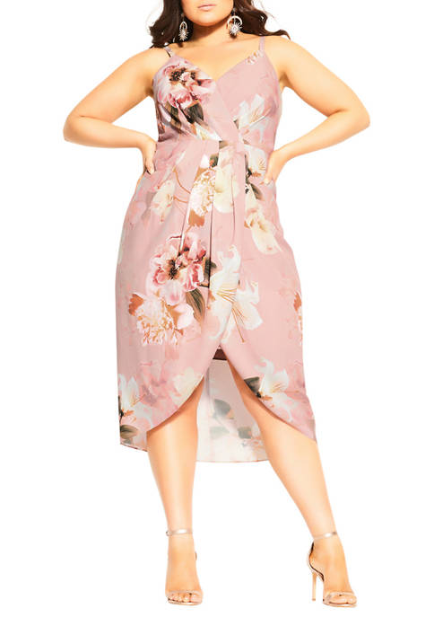 City Chic Plus Size English Bouquet Dress