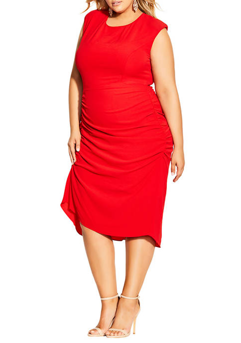 City Chic Plus Size Side Split Dress