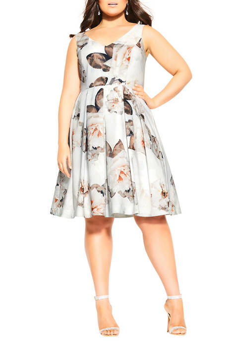 City Chic Plus Size English Bloom Dress