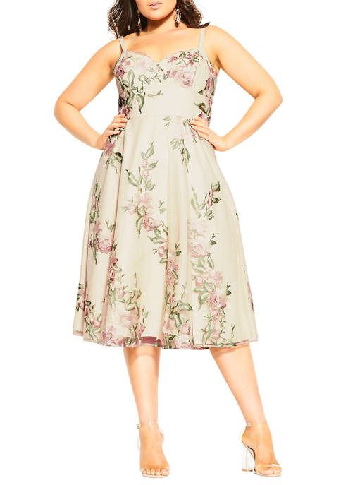 City Chic Plus Size Delicate Embroidery Dress