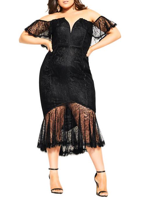 City Chic Plus Size Lace Violet Dress