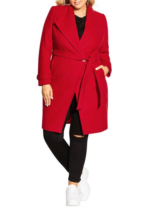 City Chic Plus Size So Chic Coat