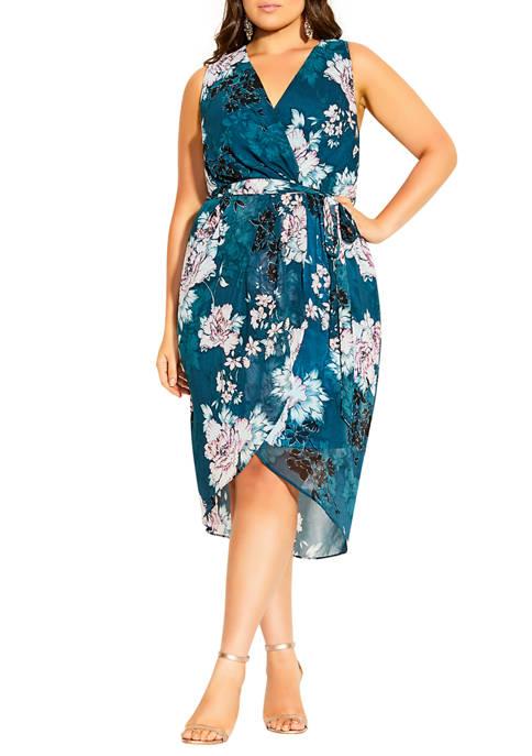 Plus Size Dress Jade Florals