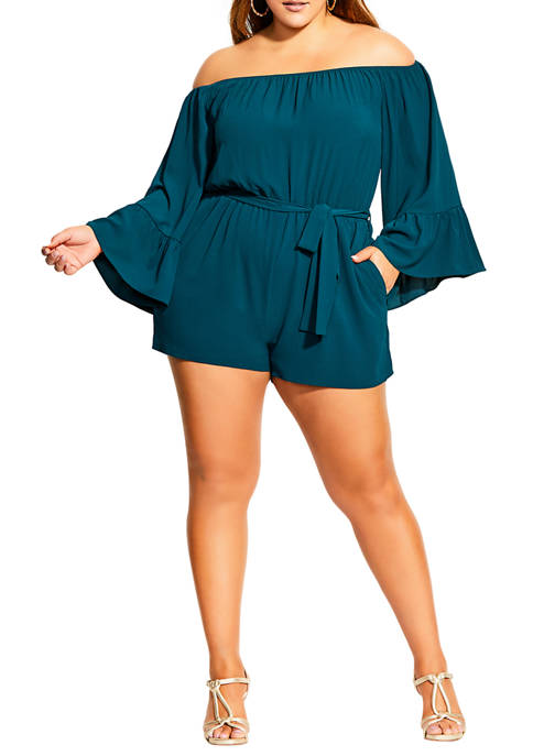 Plus Size Romantic Sleeve Playsuit