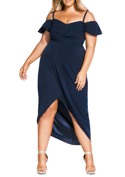 Plus Size Maxi Aflutter Dress