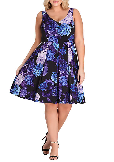 City Chic Plus Size Hydrangea Dress