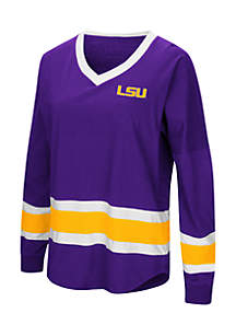 Colosseum Athletics LSU Tigers Marquee Players Oversized Long Sleeve Tee