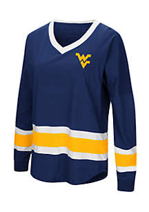 West Virginia Mouintaineerss Marquee Players Oversized Long Sleeve Tee