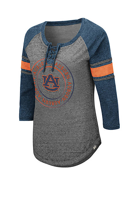 Colosseum Athletics Auburn Tigers Carrie Lace Up T