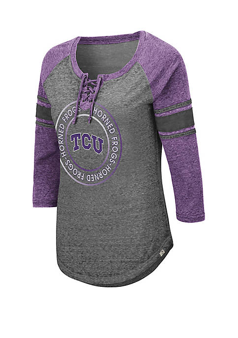 TCU Horned Frogs Carrie Lace Up T Shirt