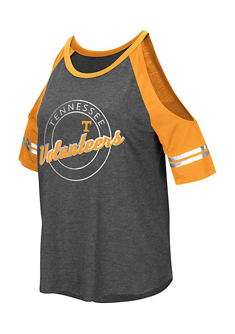 Colosseum Athletics Short Sleeve Tennessee Mae Cold Shoulder