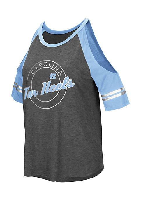 Colosseum Athletics Short Sleeve UNC Mae Cold Shoulder