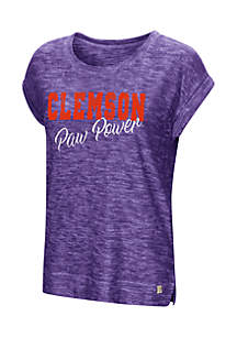 Clemson Here It Is Short Sleeve Cuffed Tee