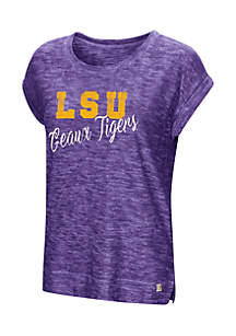 Short Sleeve LSU Here It Is Cuffed Tee