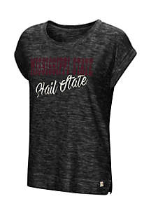 Mississippi State Here It Is Short Sleeve Cuffed Tee