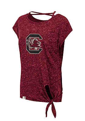 64353a1c3 Colosseum Athletics South Carolina Gamecocks Como Tie Front Tee ...