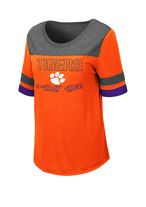 Colosseum Athletics Clemson Tigers Romantic Short Sleeve T