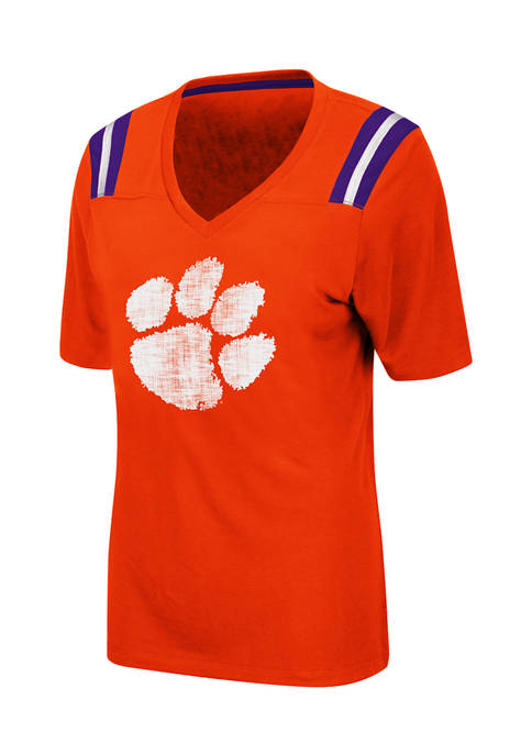 Colosseum Athletics Womens NCAA Clemson Tigers Distressed T-Shirt
