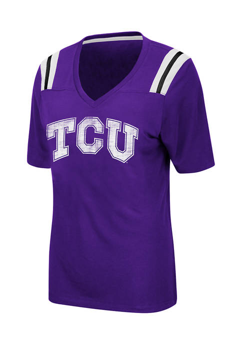Colosseum Athletics Womens NCAA TCU Horned Frogs Distressed
