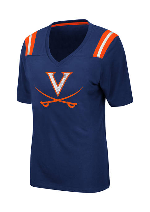 Colosseum Athletics Womens NCAA Virginia Cavaliers Distressed