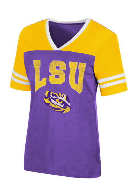 Colosseum Athletics NCAA LSU Tigers Kick Flip Short