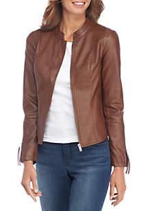 Petite Faux Leather Jacket