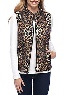 Quilted Vest with Side Rib Insets