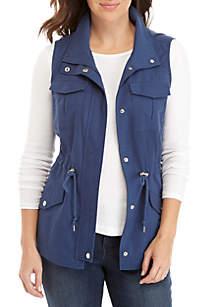 New Directions® Sleeveless Drape Front Vest