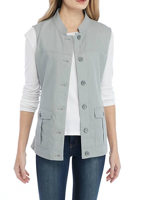 New Directions® Linen Side Lace Vest