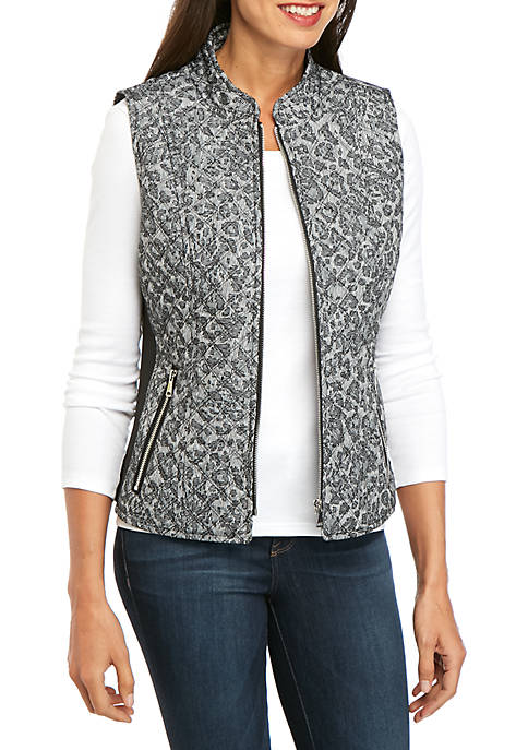 Puffer Vest with Zip Front