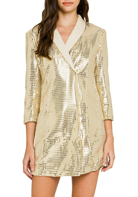 ENGLISH FACTORY Womens Holiday Wrap Dress