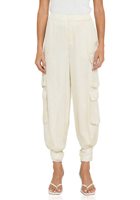 ENGLISH FACTORY Womens High Waisted Cargo Pants