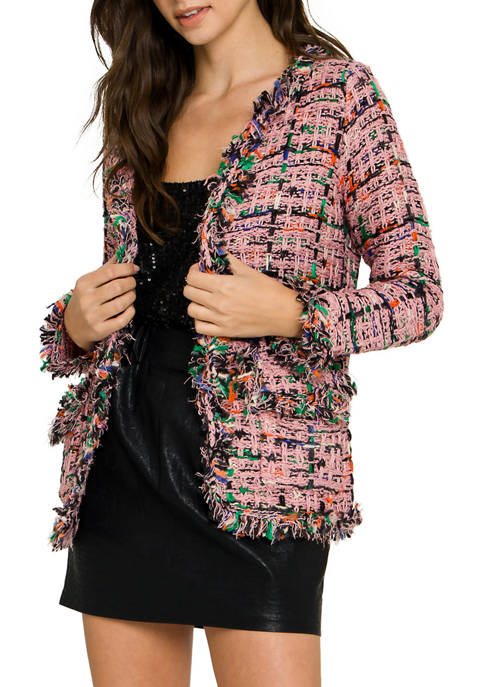 ENGLISH FACTORY Womens Tweed Bolero Jacket